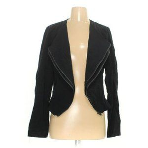 Lush Black Zipper Moto Black Jacket NWT M